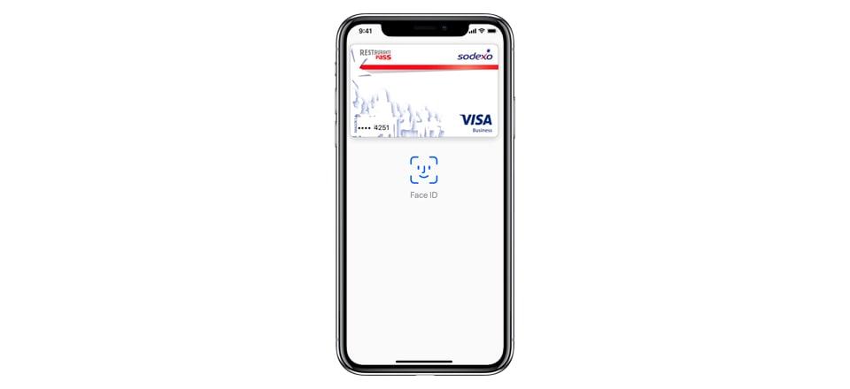 Paga con tus tarjetas Sodexo con Apple Pay