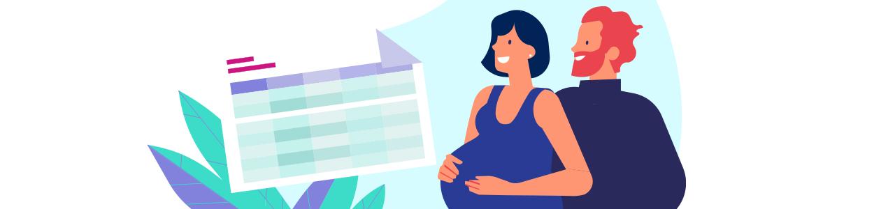 ¿Cómo calcular tu nómina durante tu baja de maternidad o paternidad?